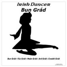 Girl Bun Grád Poster