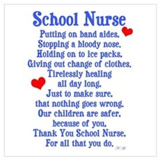 School Nurse Framed Print