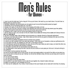 Men's Rules Poster