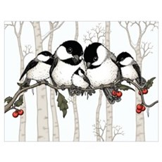 Chickadee Family Poster