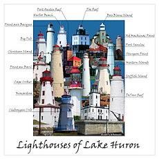 Lighthouses of Lake Huron Poster