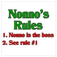 Nonno's Rules Canvas Art