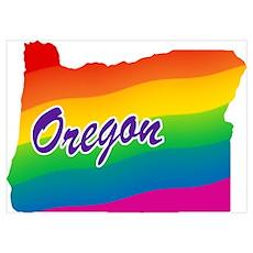 Gay Pride Rainbow Oregon Poster
