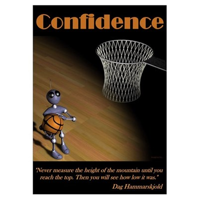 Confidence Large Print Poster