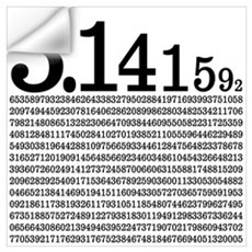 3.1415926 Pi Wall Decal