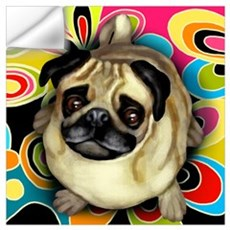 PUG DOG RETRO Wall Decal