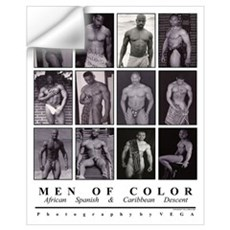 Men of Color B&W Wall Decal
