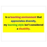 Learning disability Framed Prints