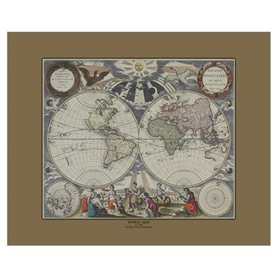 World Map c.1500's Poster