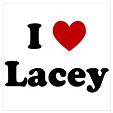 I Heart Lacey Poster