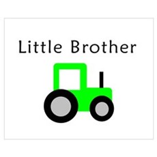 Little Brother - Lime Tractor Poster
