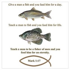 Gone Fishing Christian Style Poster