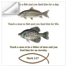 Gone Fishing Christian Style Wall Decal