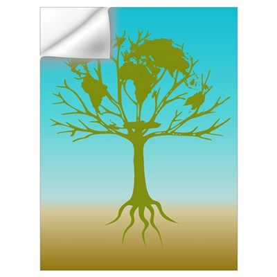 Go Green World Tree Wall Decal