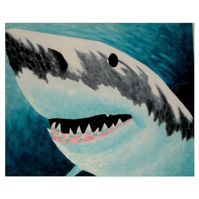 Great White Canvas Art