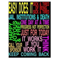 12 STEP SLOGANS Canvas Art