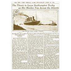 Titanic Leaves Southhampton To-Day Poster