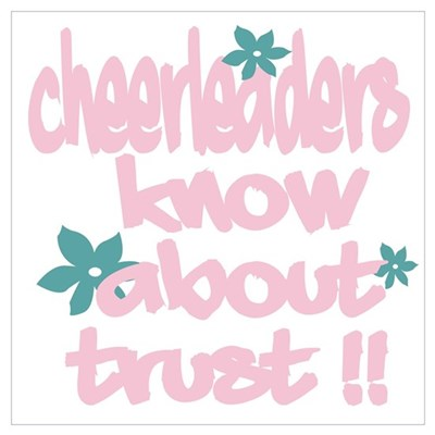 Cheerleaders Know about Trust! Framed Print