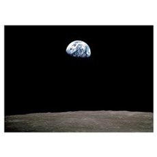 """Apollo 8 Earth and Moon"" Poster"