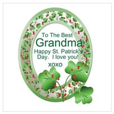 St. Pat's Day Gifts For Grand Poster