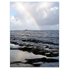 Rainbow, Kauai,HI Poster