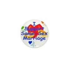 Cute Same sex marriage Mini Button