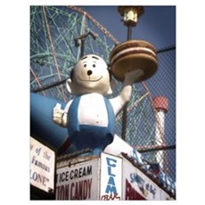 Coney Island Burger Boy Print Poster
