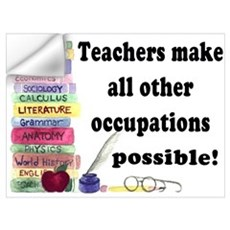 """Teacher Occupations"" Wall Decal"