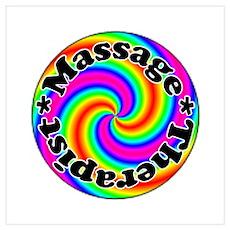 Rainbow Massage Poster