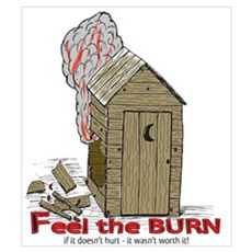 Out House Burn Poster