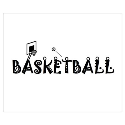 BASKETBALL Pictograph Poster