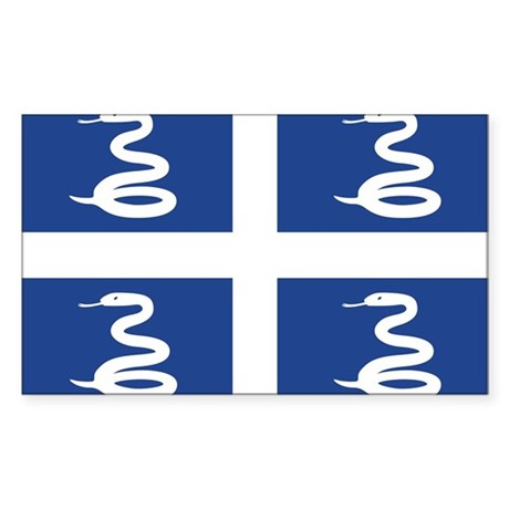 Martinique Flag Sticker (Rectangle)
