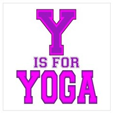 Y is for Yoga Poster