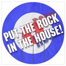 Rock In The House! Curling Framed Print