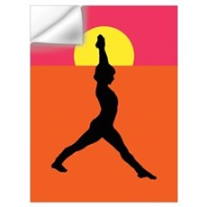 Yoga Warrior Pose Wall Decal