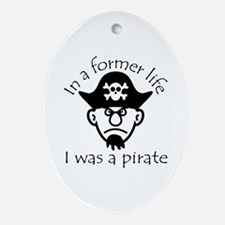Pirate in Former Life Ornament (Oval)