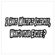 """Multiple Sclerosis..Excuse?"" Poster"