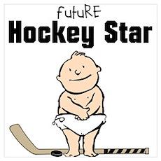 Future Hockey Star Framed Nursery Print Poster