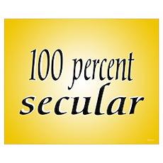"""100% Secular"" Poster"