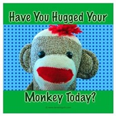 Hugged Monkey? Framed Print