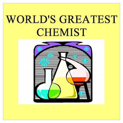 funny chemistry chemist geek Poster
