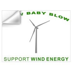 Support Wind Energy Wall Decal
