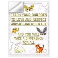 """Teach your children"" Wall Decal"