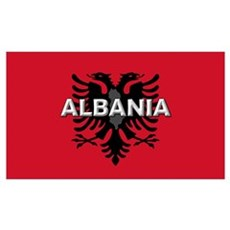 Albanian Flag Extra Canvas Art
