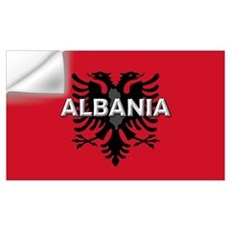 Albanian Flag Extra Wall Decal