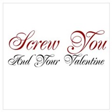 Screw Valentine Poster