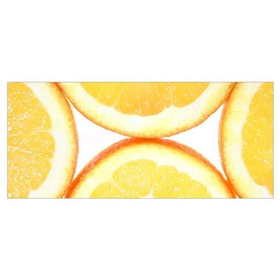 Orange on White Canvas Art