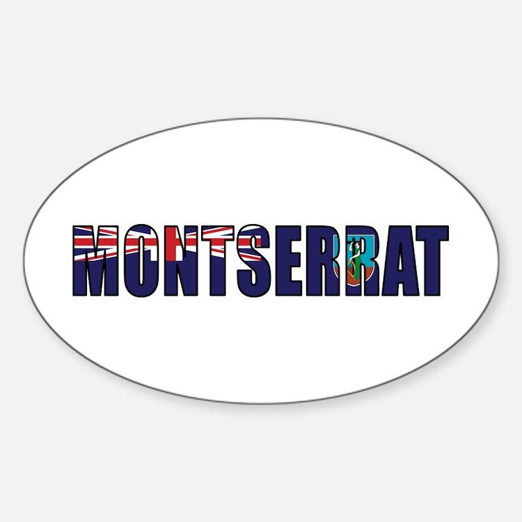 Montserrat Sticker (Oval)