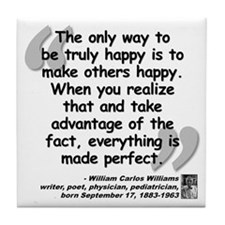 Williams Happy Quote Tile Coaster