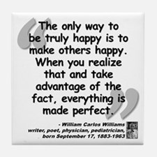 Williams Happy Quote Tile Coaster